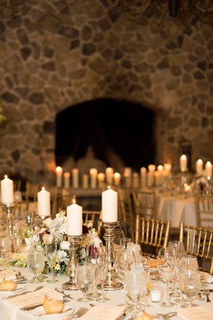 Pillar Candles at Reception
