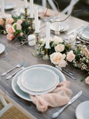 Pink and Blue Beach Wedding Ideas