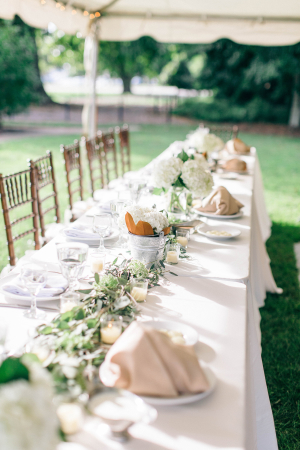 Reception Table with Greenery