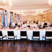 Reception with Pink and Red Flowers