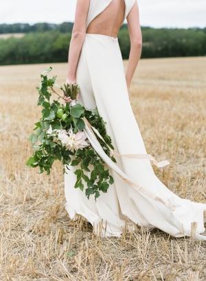 Ribbon Tied Greenery Bouquet