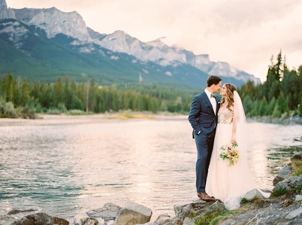 Romantic Mountain Wedding Justine Milton