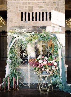 Rustic Elegant Wedding Arbor