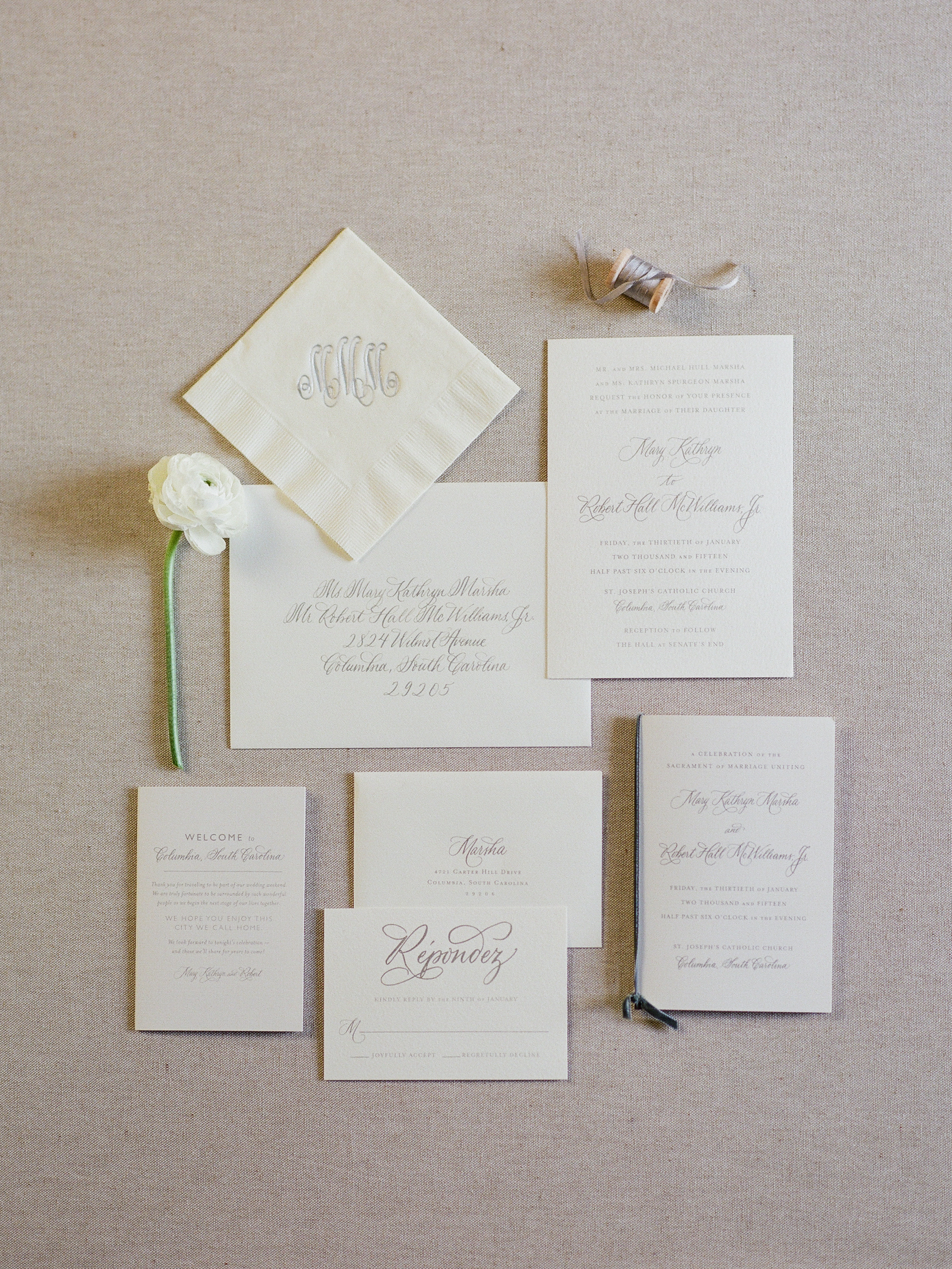 Silver and White Wedding Invitations - Elizabeth Anne Designs: The ...