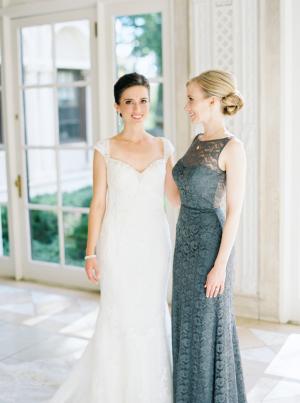 Slate Blue Bridesmaids Dress