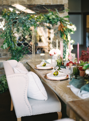 Upholstered Chair at Wedding Table