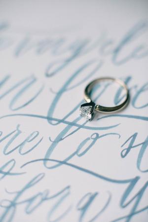 Watercolor Inspired Wedding Invitations