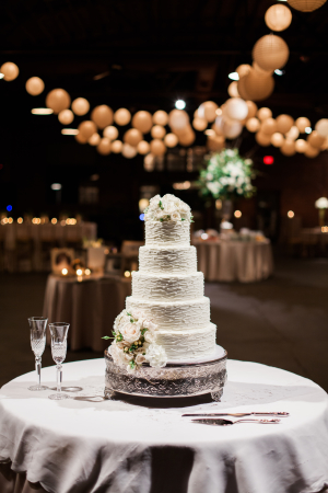 Wedding Cake on Silver Stand1
