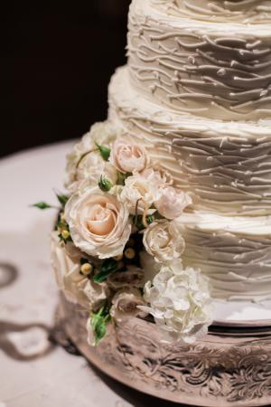 Wedding Cake with Ruffle Icing