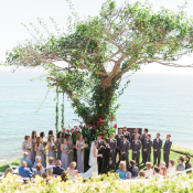 Wedding Ceremony Under Tree by Water