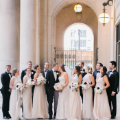Wedding Party at Wrigley Building