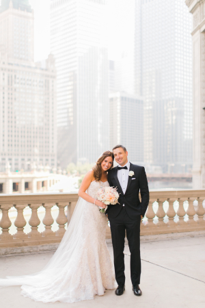 Wedding Portrait at the Wrigley Building