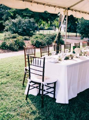 Wedding Reception Under Tent