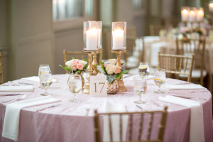 Wedding Reception in Pink and Gold