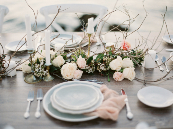 Wedding Table with Beach Elements