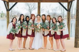 Winter Bridesmaid Cardigans