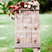 Wood Wedding Welcome Sign