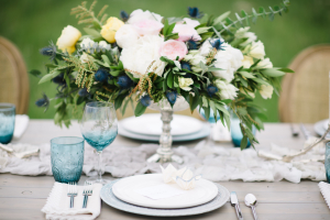 Blue and Silver Ranch Wedding Ideas