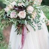 Bouquet with Lavender and Purple Flowers