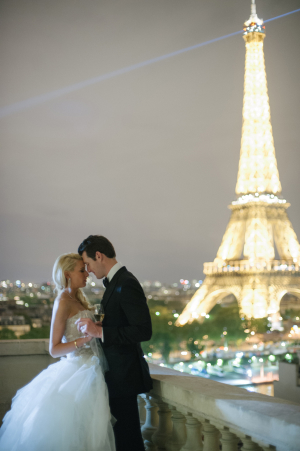 Bride and Groom and Eiffel Tower