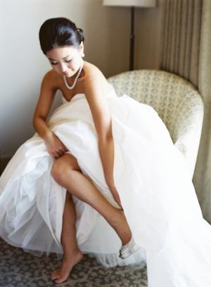 Bride in Amsale