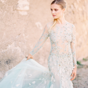 Bride in Blue Gown