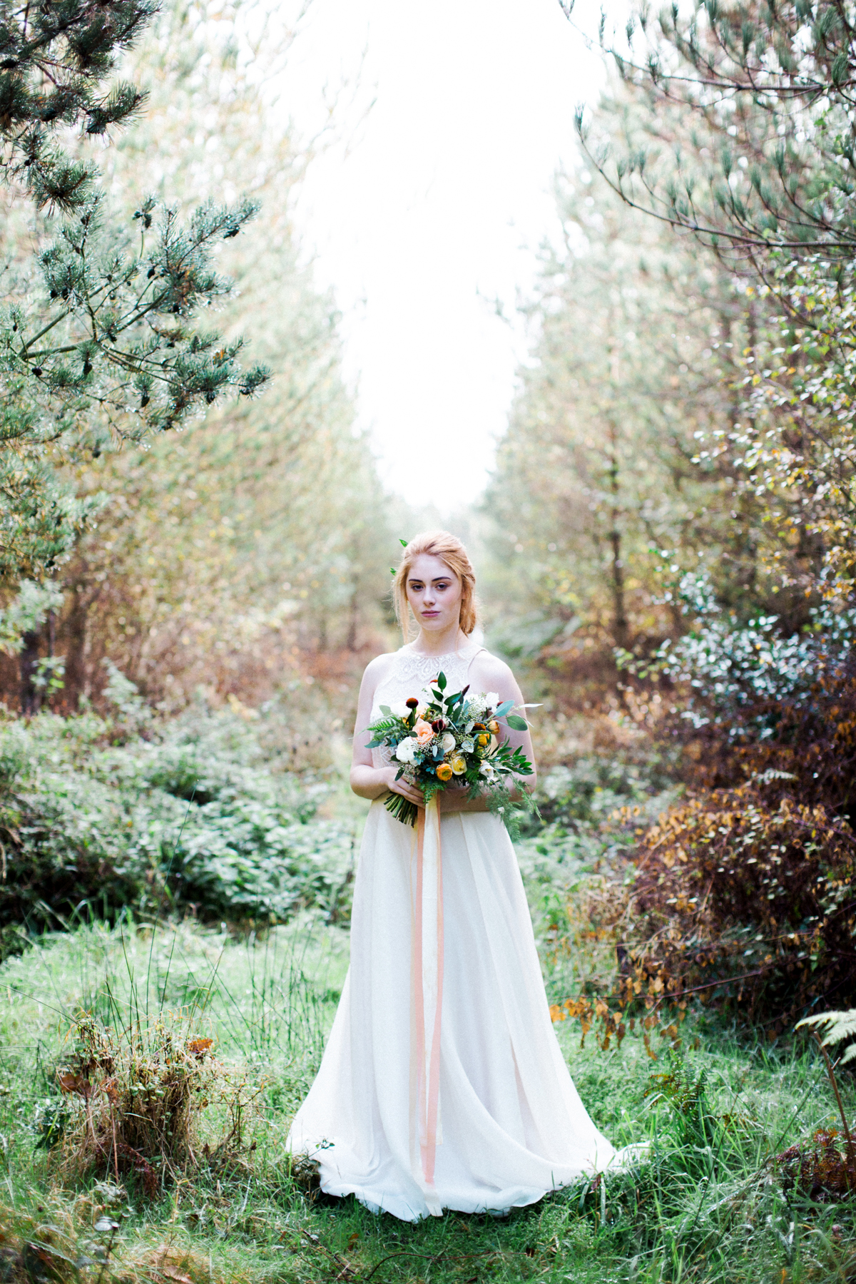 Bride in English Forest