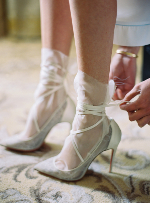 Bride in Tulle Socks