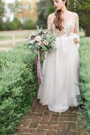 Bride in Vintage Inspired Gown