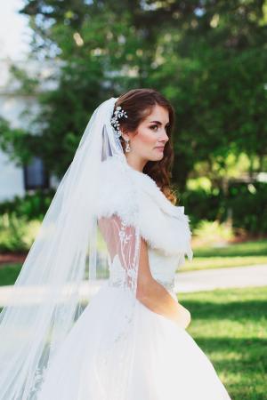 Bride with Winter Wrap