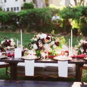 Brown Red and Gold Winter Wedding