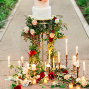 Cake Stand with Taper Candles