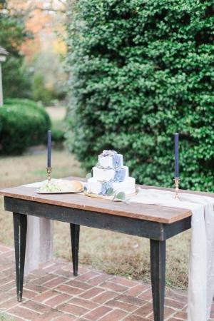 Cake on Wood Table