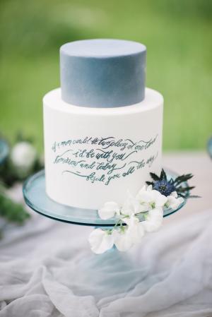 Calligraphy on Wedding Cake