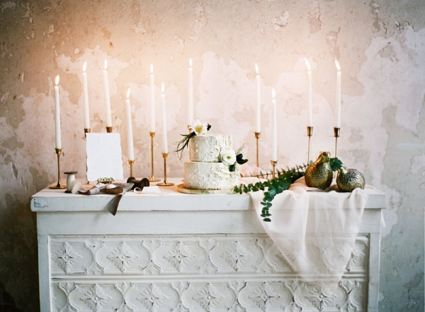 Candles on Dessert Table