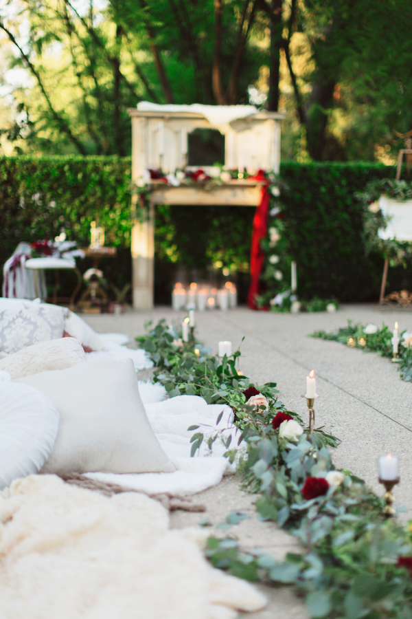 Ceremony Aisle with Greenery
