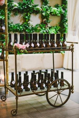 Champagne Bottle Escort Cards