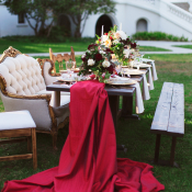 Crimson Table Runner