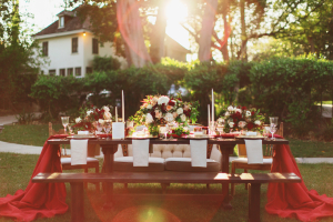 Elegant Gold and Red Wedding Ideas