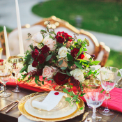 Elegant Red and Gold Wedding