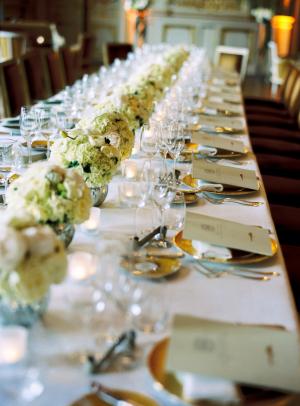Estate Table at Wedding