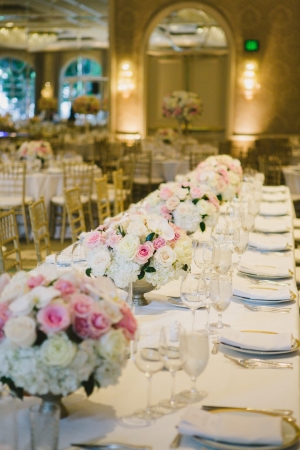 Family Style Table at Wedding