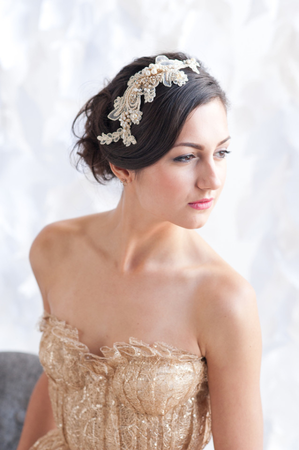Gold Lace Headpiece