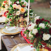 Gold Red and White Wedding
