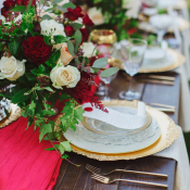 Gold and Burgundy Wedding Ideas