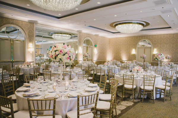 Gold and Pink Hotel Wedding