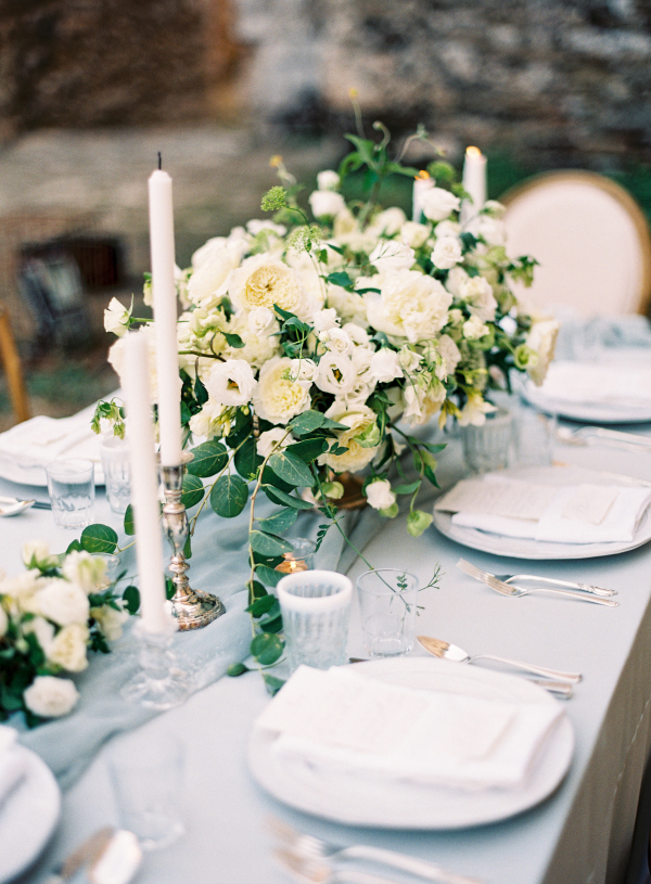 Green Blue and Ivory Wedding