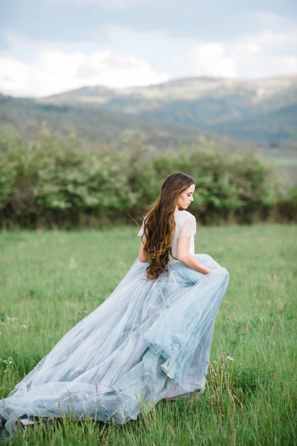 Handpainted Wedding Dress