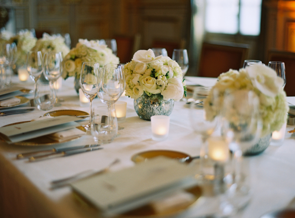 Ivory Rose Centerpieces
