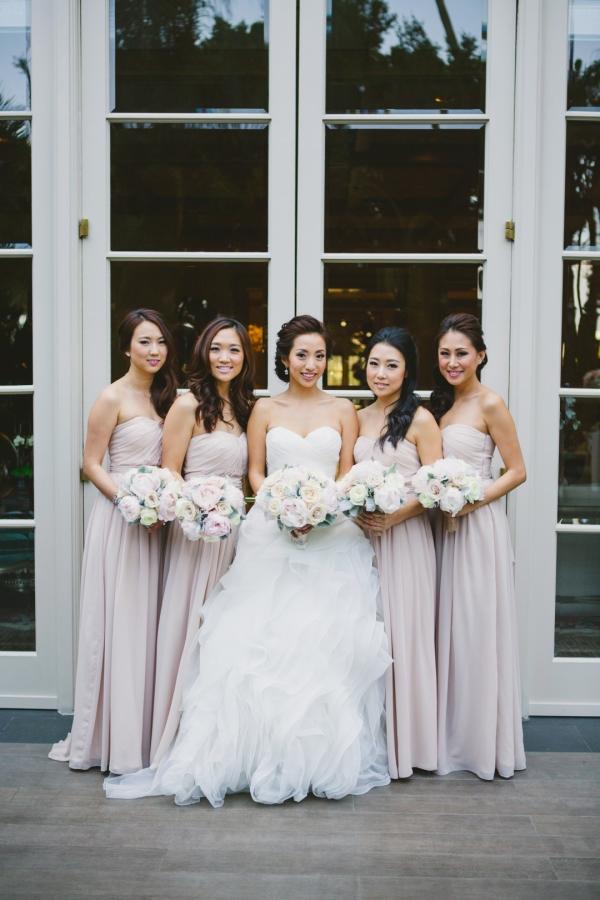 Long Pale Lavender Bridesmaids Dresses